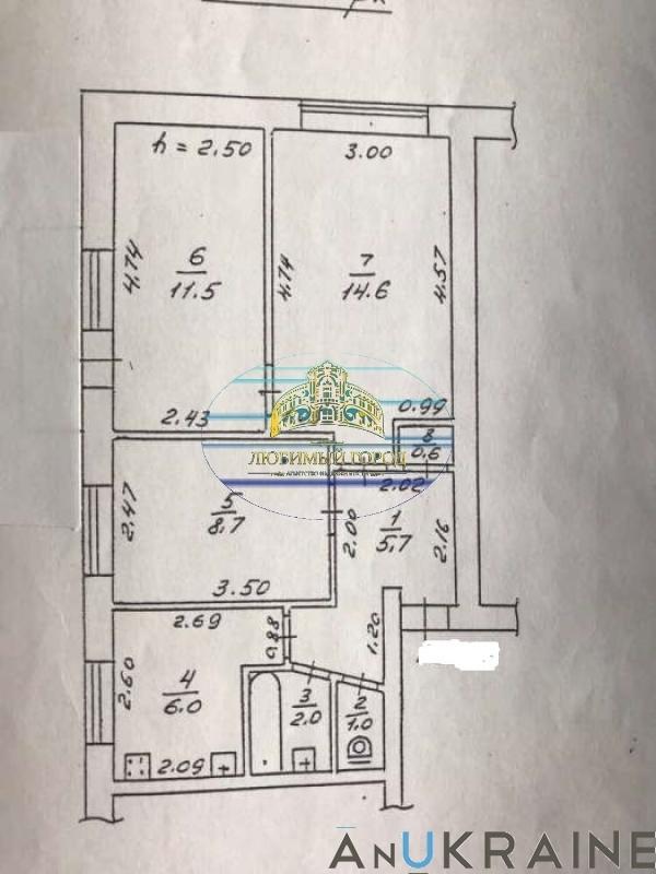 продажа трехкомнатной квартиры номер A-101170 в Приморском районе, фото номер 6